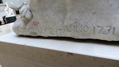 coustou signature louis XV